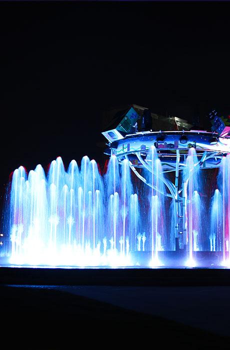瑞安城市阳台旱式点阵喷泉文旅夜游工程2