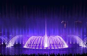 云南沾益西河公园喷泉水景