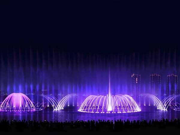 【原创】云南沾益西河公园喷泉水景