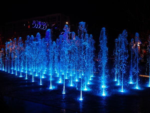 台州金地广场旱式点阵喷泉水景