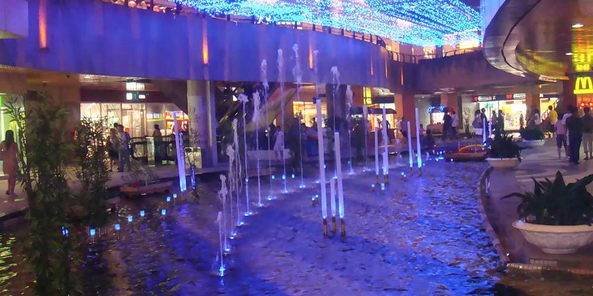 南京水游城室内喷泉水景工程