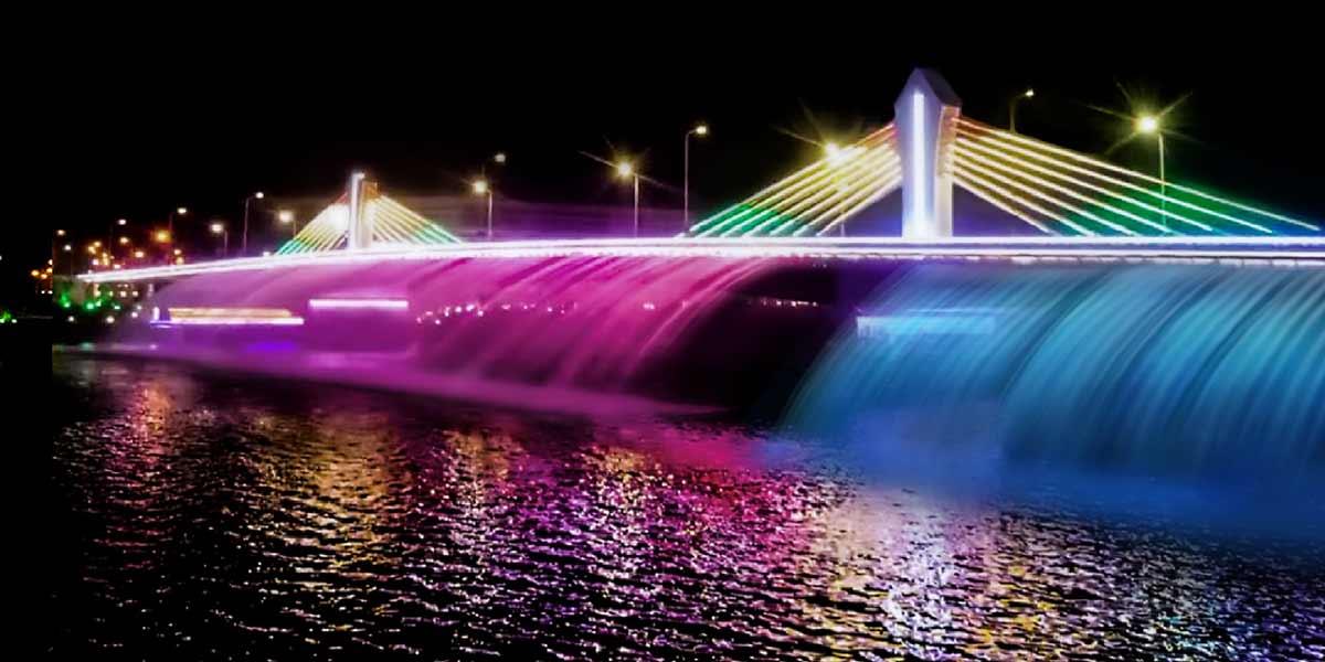 【原创】常山大桥喷泉水景改造工程